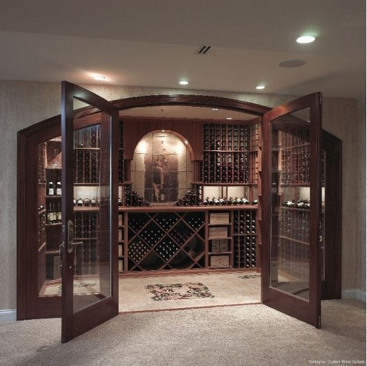Home Wine Cellar Design Painting Impressive Inspiration