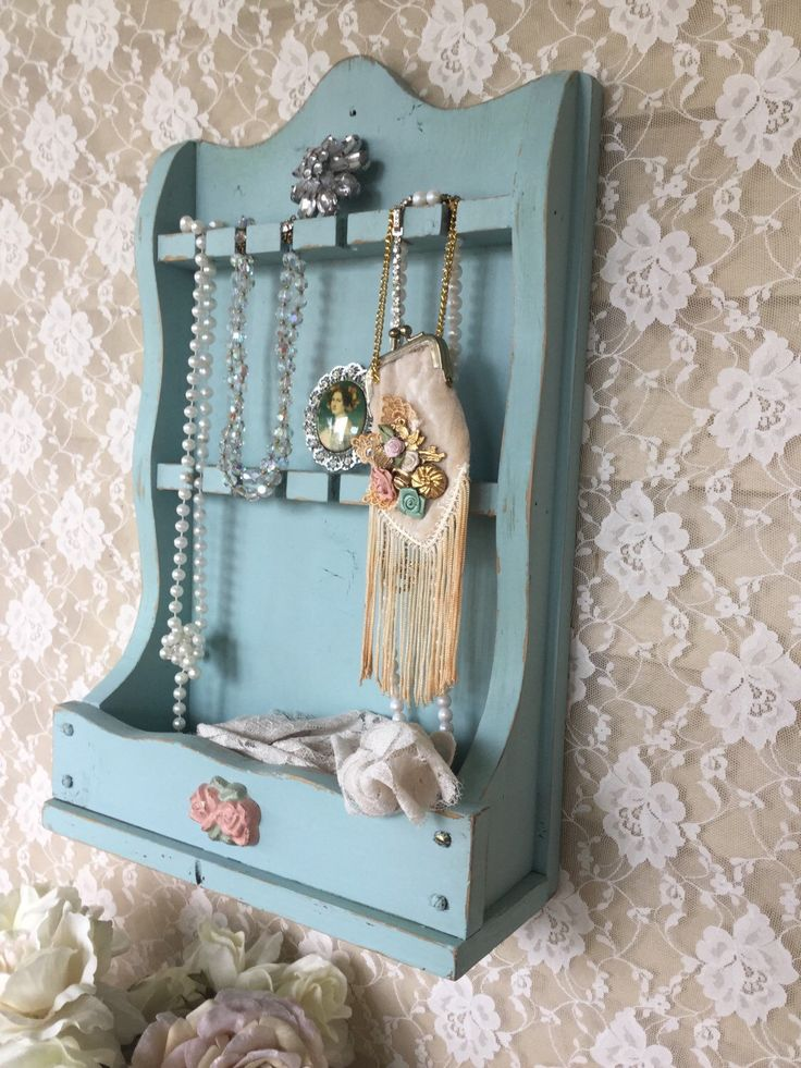 Repurposed spoon holder shabby jewelry holder spoon rack for Repurposed jewelry holder