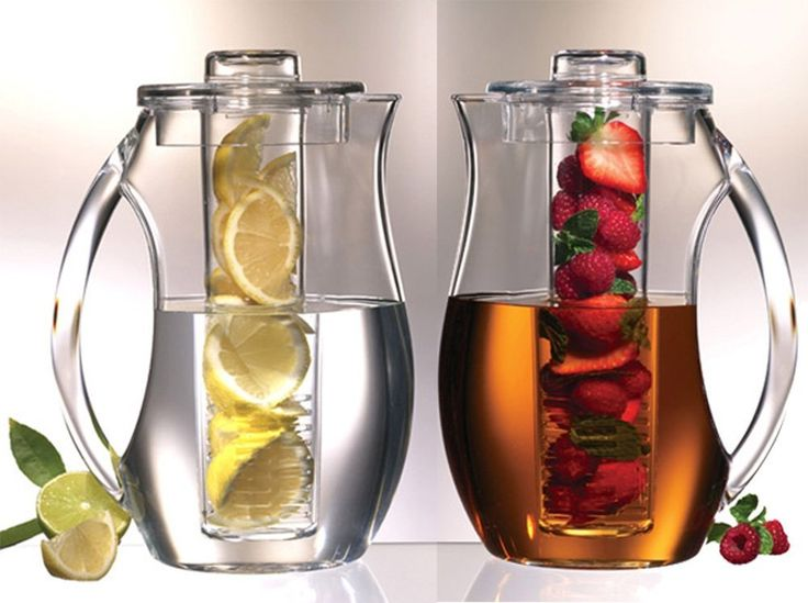 Amazon.com: Prodyne Fruit Infusion Flavor Pitcher: Infuser Water Bottle: Kitchen…