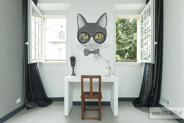 Hipster cat wallpaper by Big-trix.pl | #wallpaper #cat #hipster #decal