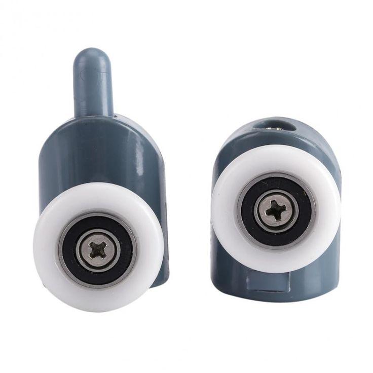 8/Lot Shower Door Rollers Twin Bottom Top Shower Door Rollers Pulleys Wheels Runners Bathroom Top/Bottom Screw Cover Caps