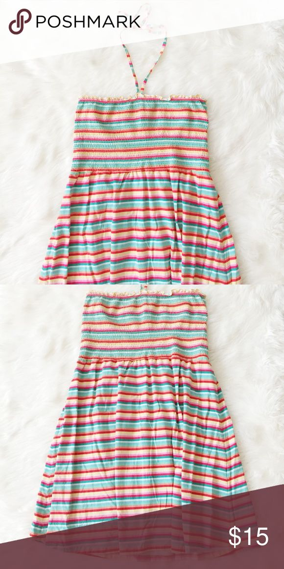 H&M Summer Stripe Dress Gorgeous and comfy summer stripe dress from H&M perfect to wear over a swimsuit or with wedges for a fun weekend at the beach! Worn twice. Reasonable offers always accepted. Bundle more to save more 💖✨ H&M Dresses