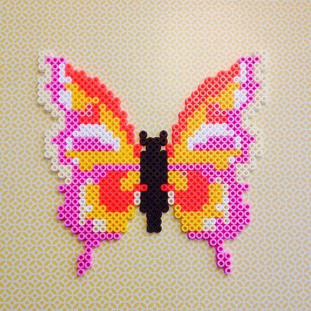 Butterfly hama perler beads by michelebayolsen