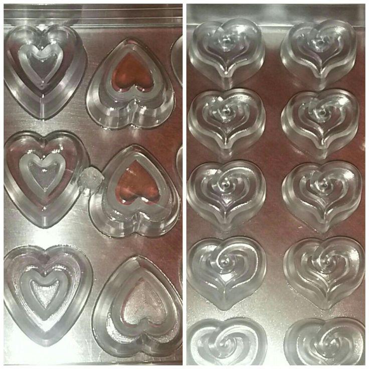 Moldes corazón de policarbonato