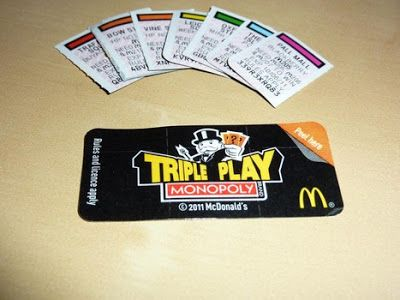 McDonald's Monopoly 2013. Game Board, Rare Pieces: McDonald's Monopoly 2013: Rare Pieces