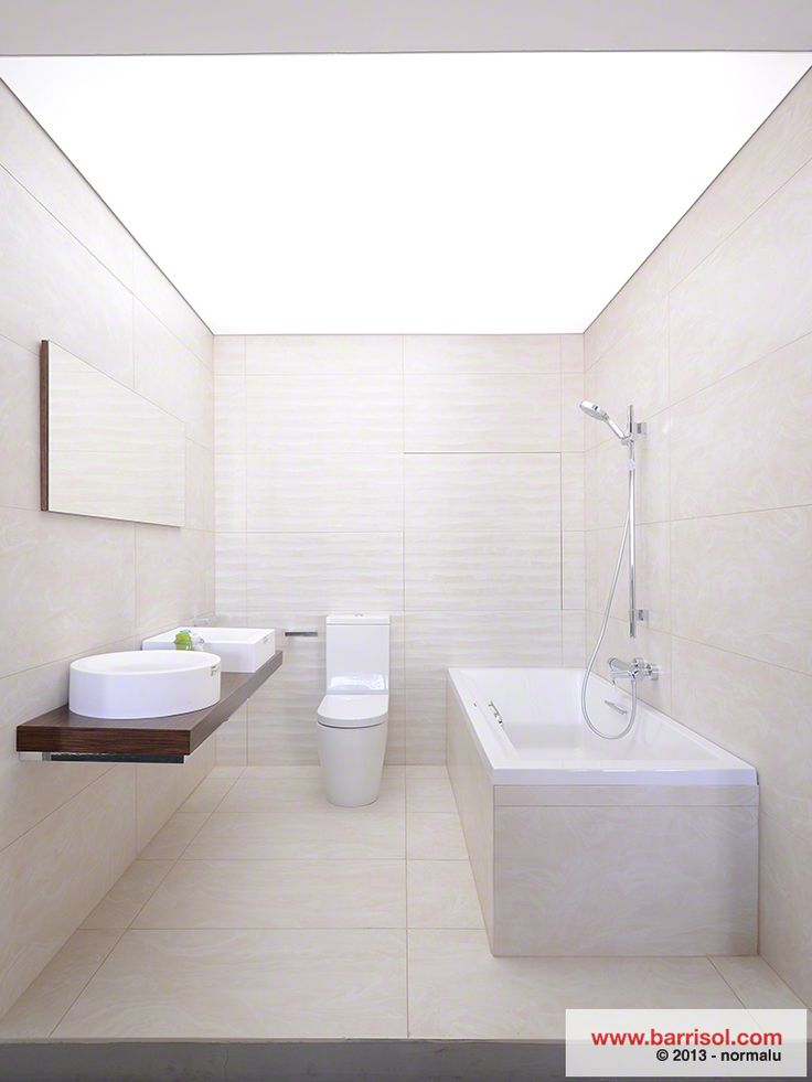 barrisol lumiere ceiling membranes used in bathroom displays: architecture bathroom toilet