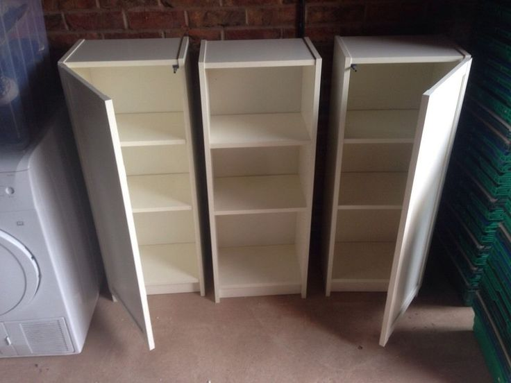 Ikea Billy Bookcase White X 3