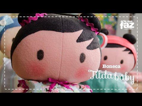 Boneca Tilda Baby (Vera Portela) - YouTube