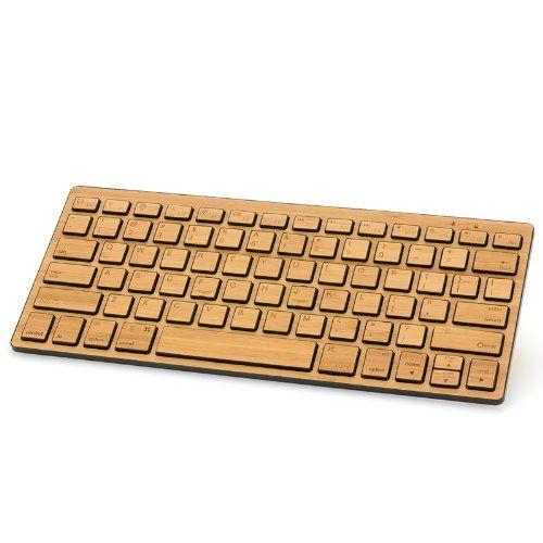 Bluetooth-Tastatur von der Express Panda Company Bambusart Multimediatastatur für Haus und Bürogebrauch