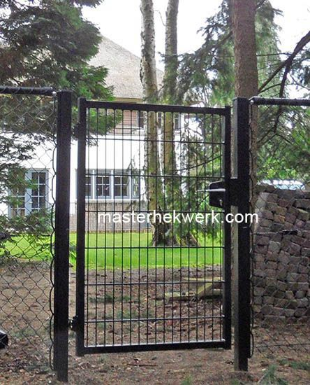 Degelijk tuindeur loophek, tuinpoort, loopdeur van staafmatten