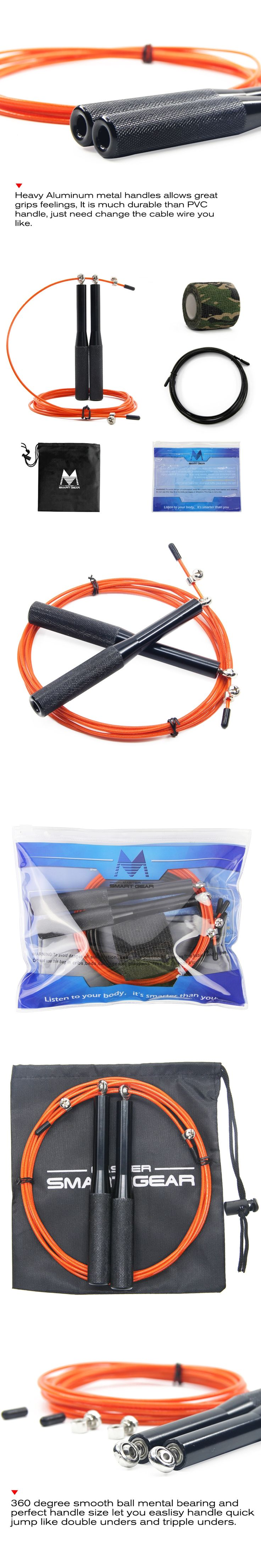 Crossfit Speed Rope Adjustable Speed Skipping Rope For Women Bearing Jump Rope With Aluminum Handle Free Bag