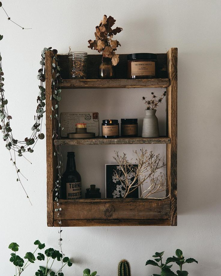 Lovely little herbals/nature shelf with scented candle