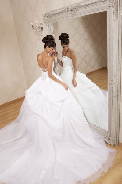 Strapless Aphrodite Wedding Gown Available In Pink From Hollywood