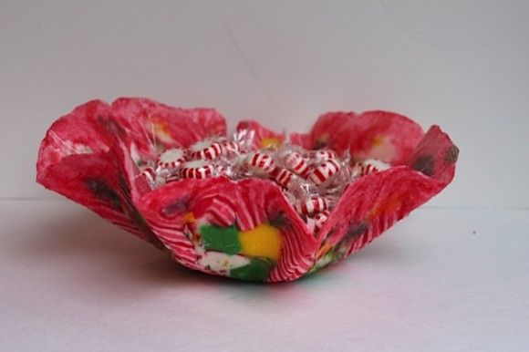 edible candy dish. I need to do this with all that Halloween candy that no one will eat once the chocolate is gone... LOL