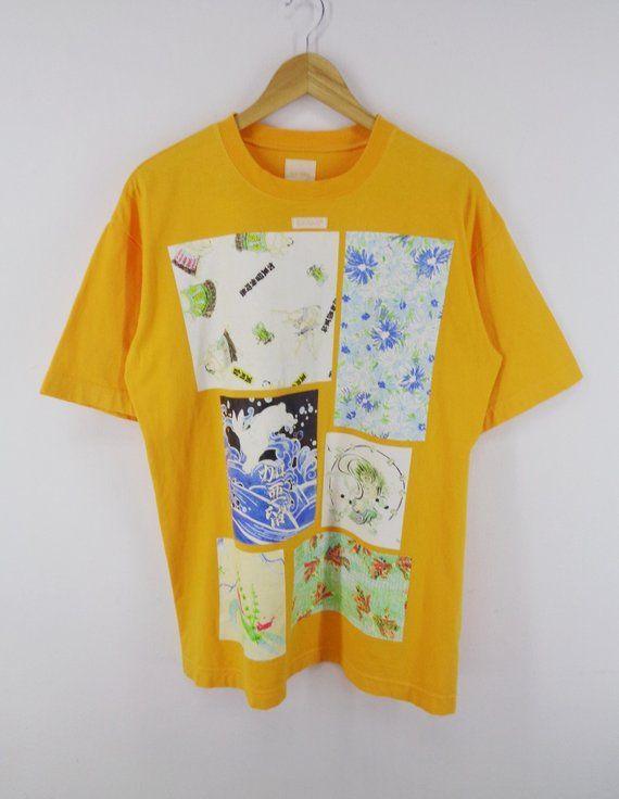 Karl Helmut Shirt Karl Helmut Japan Vintage Karl Helmut Japanese Theme Tee T Shirt Made In Japan Size L Vintage Tshirts Used Clothing Shirts