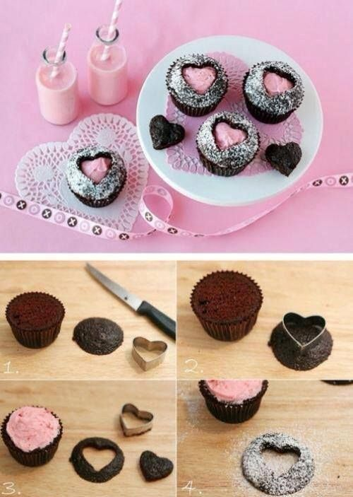 Adorable love heart cupcakes!