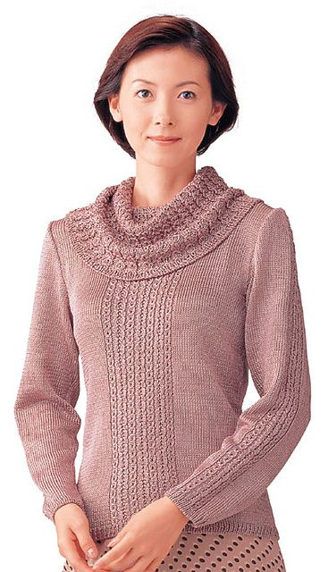 Free Pattern: Cowl-neck Pullover
