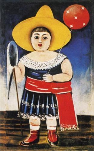 Girl with a Baloon - Niko Pirosmani  State Art Museum of Georgia