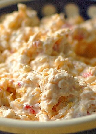 Pimento Cheese Dip Recipe ~ A basic cheese spread, with a little sass