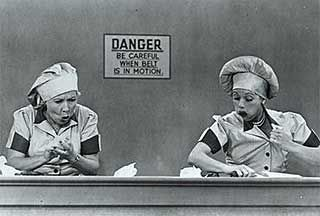 I Love Lucy at the chocolate factory. Just as funny as the