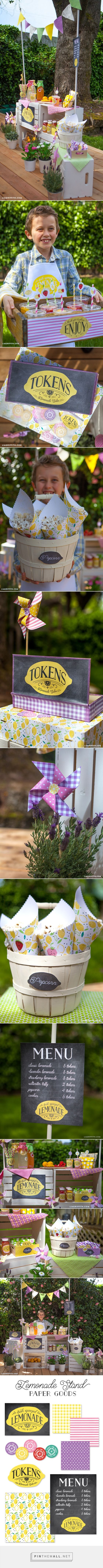 Make Your Own Felt Bunting Flags and Lemonade Stand - Lia Griffith - created via http://pinthemall.net