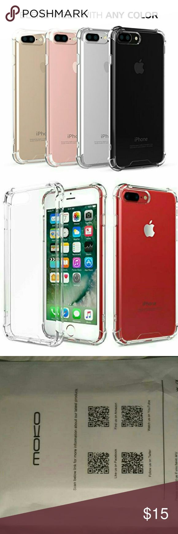 Moko clear case iphone 7 plus I phone 7 plus case clear Moko Accessories Phone Cases