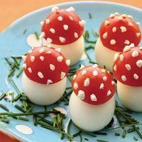 Eieren met tomaat - herfst eten knutselen
