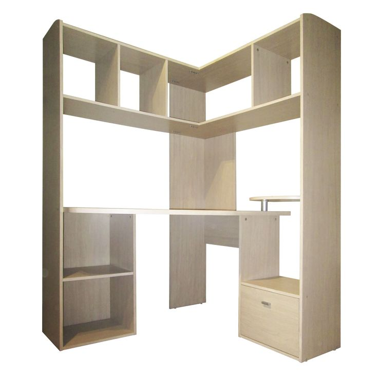 grand bureau d 39 angle pour ordinateur naturel easy les. Black Bedroom Furniture Sets. Home Design Ideas