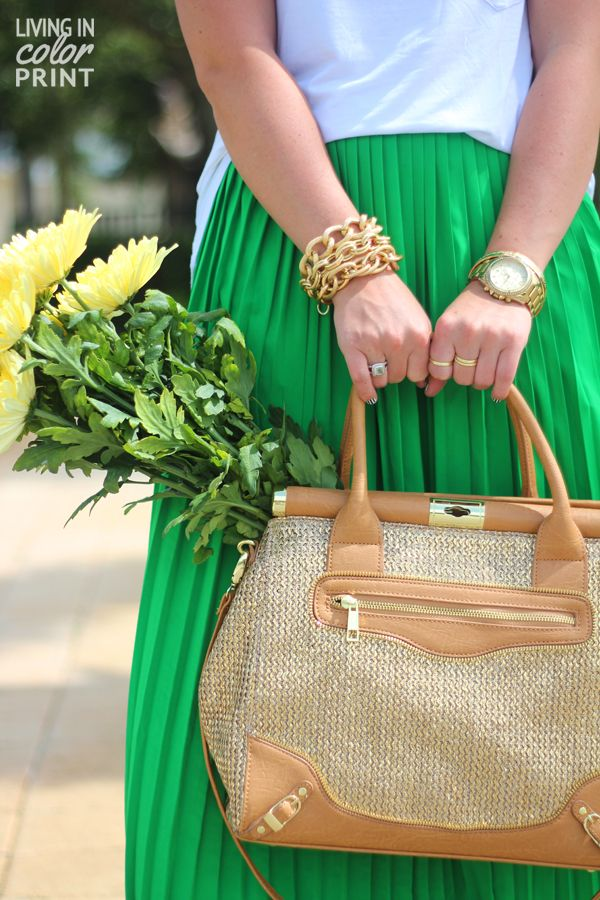 kelly green maxi.
