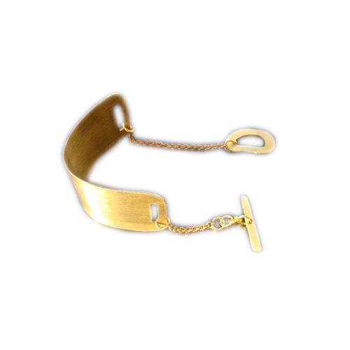 Cuff bracelet Chain Bracelet brass bracelet by arwcreation on Etsy, $30.00