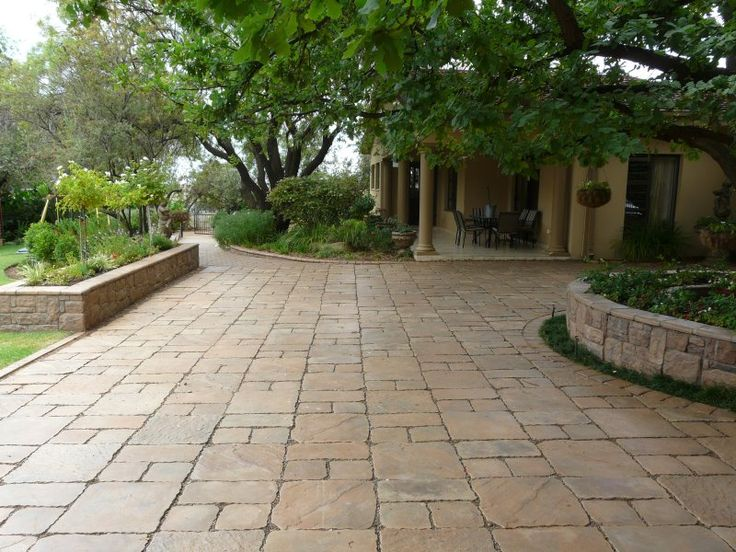 Paving and patio under large tree