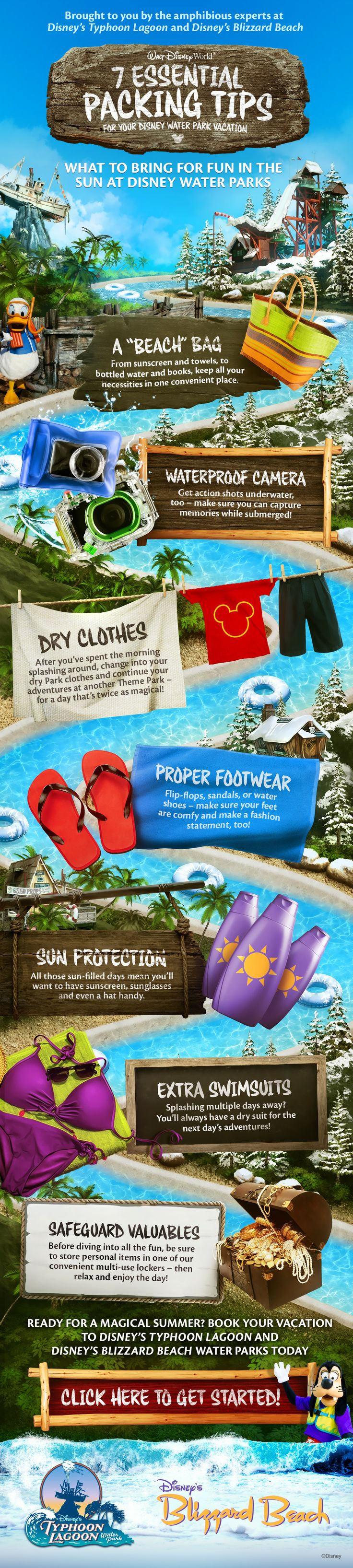 7 Essential Packing Tips for your Disney Water Park Vacation! #summer #pool #tricks #WaltDisneyWorld