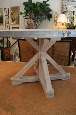 round zinc top dining table mecox gardens