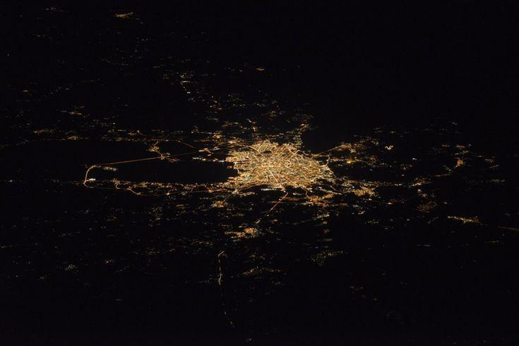 Космонавт сфотографировал Петербург с борта МКС