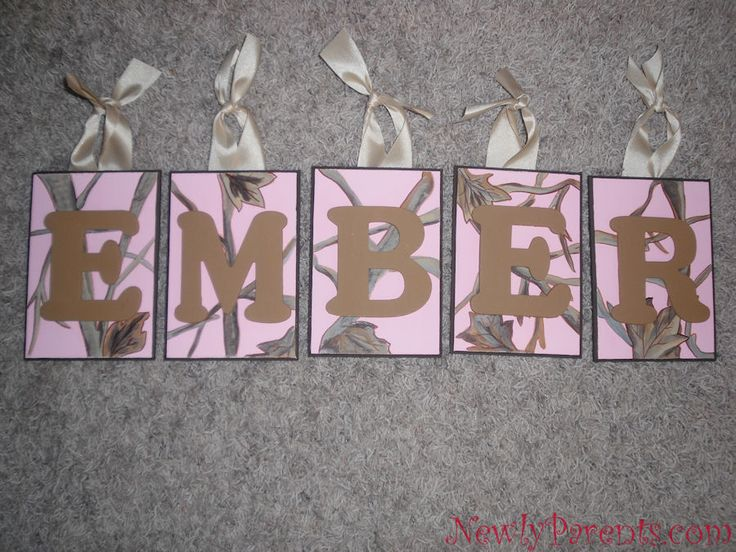 pink camo decorations for party | Ember - Pink Camo Name Plaques | Newly Parents™