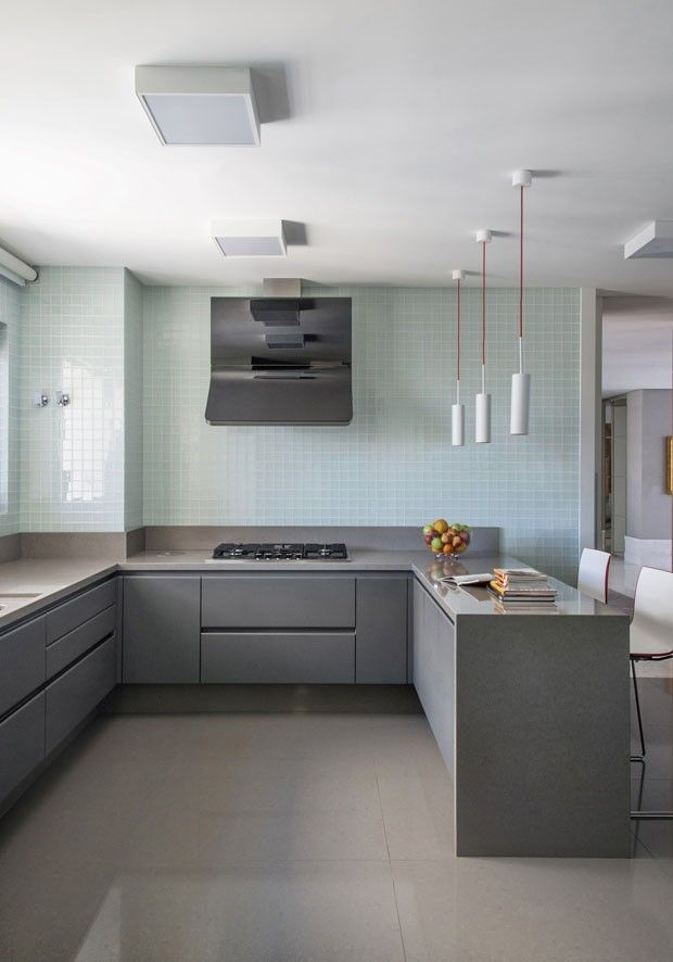 25+ melhores ideias sobre Cozinhas Cinza no Pinterest  Armários cinzentos, C # Cozinha Planejada Cinza E Branco
