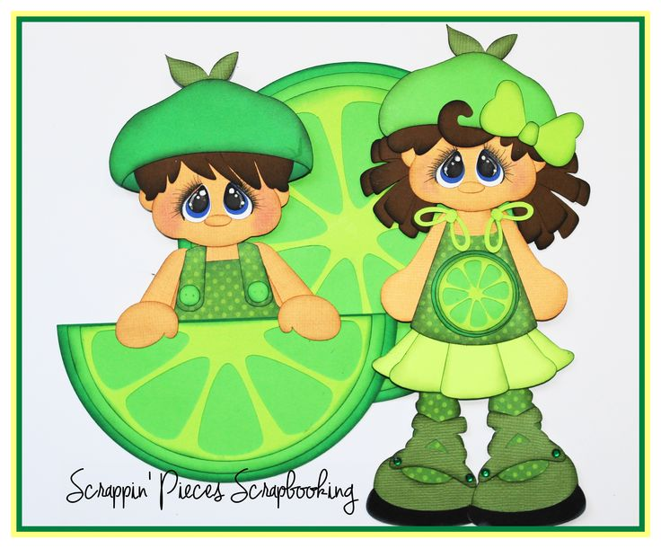 "Scrappin' Pieces Scrapbooking ""Little Fruities Lime"""