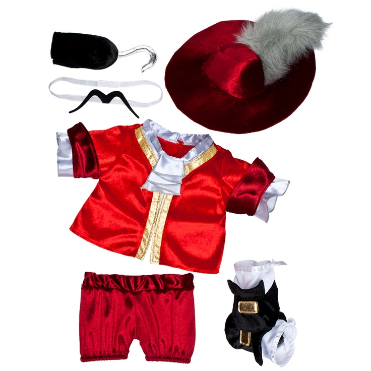 Dress your furry friend for Halloween w/ the Disney Captain Hook Costume from Build-A-Bear Workshop. Browse Halloween costumes for teddy bears online now.  sc 1 st  Pinterest & 10 best build a bear images on Pinterest | Build a bear Build a ...