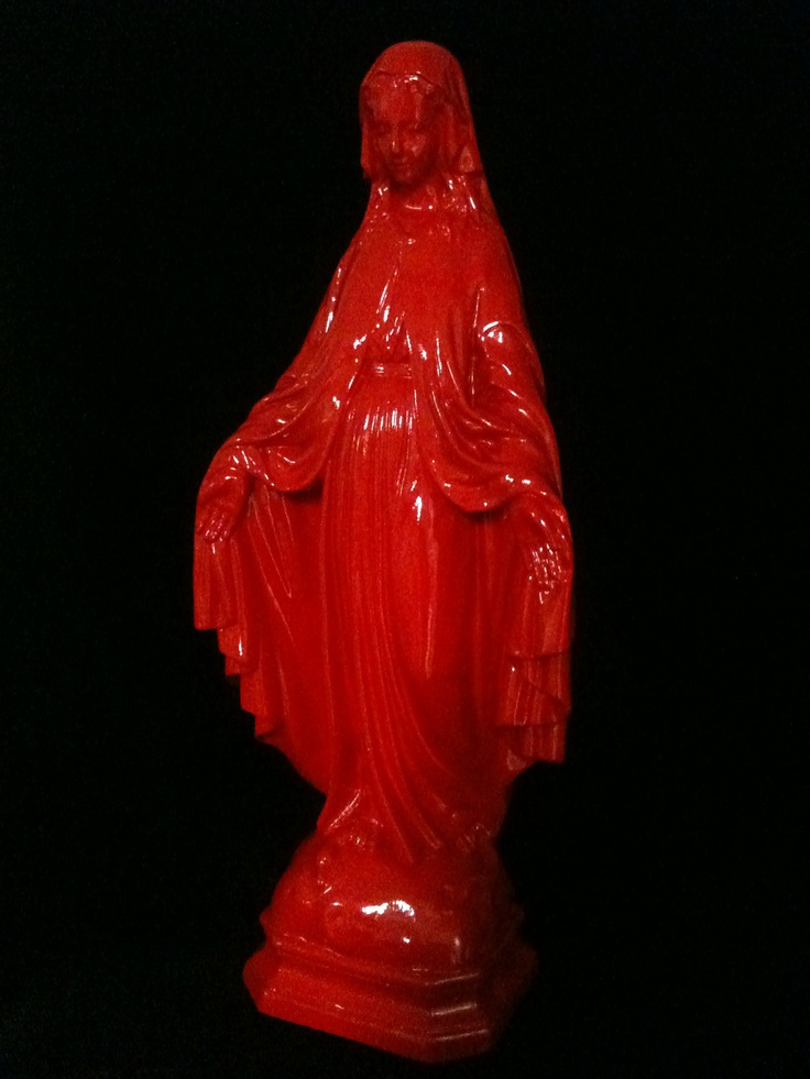 Fluorescent Pink Baby Statue-Deposit For Lisette  Statue Tattoo, Statue, Virgin Mary-5027