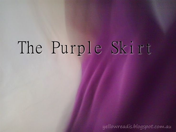 Gluten-Free Mum: The Purple Skirt