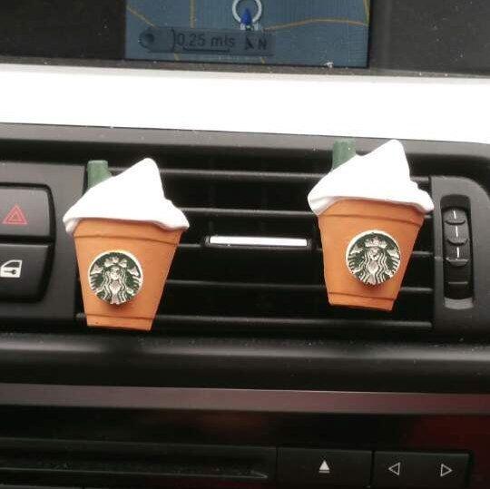 2 Starbucks Coffee Frappuccino* Handmade, Car vent clip, car air freshener, car interior, car accessory, car fragrance by Aromadite on Etsy https://www.etsy.com/listing/267681077/2-starbucks-coffee-frappuccino-handmade