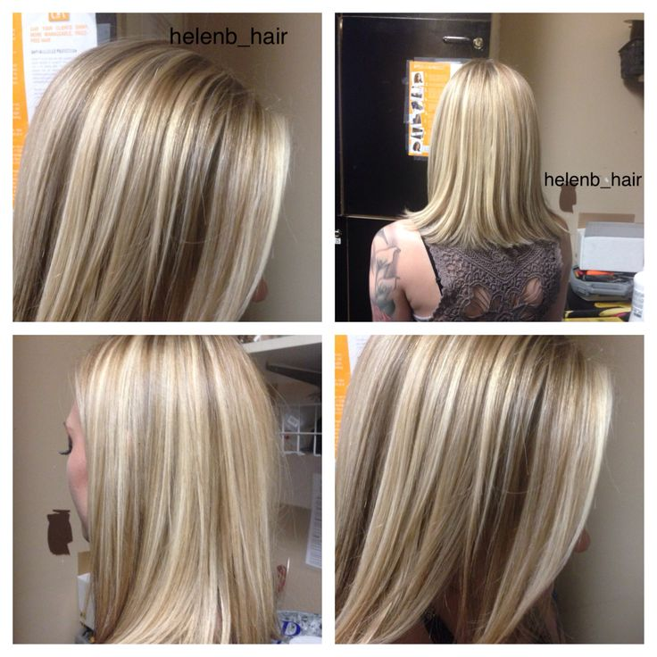 Blonde highlights with midlights & lowlights to create dimension