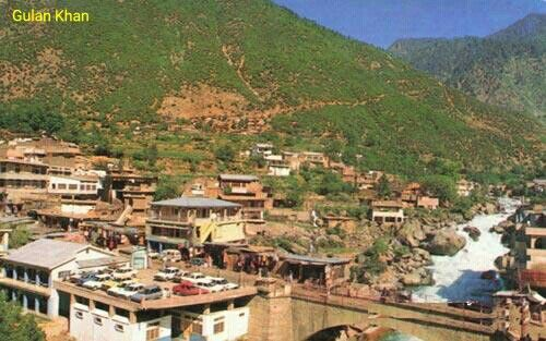Awesome view of beautiful Bahrain city Swat valley Khyber Pakhtunkhwa Pakistan