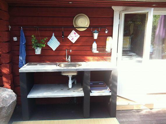 Falun/Vika: Vedeldad bastu, badtunna i betong, altan - Sida 7