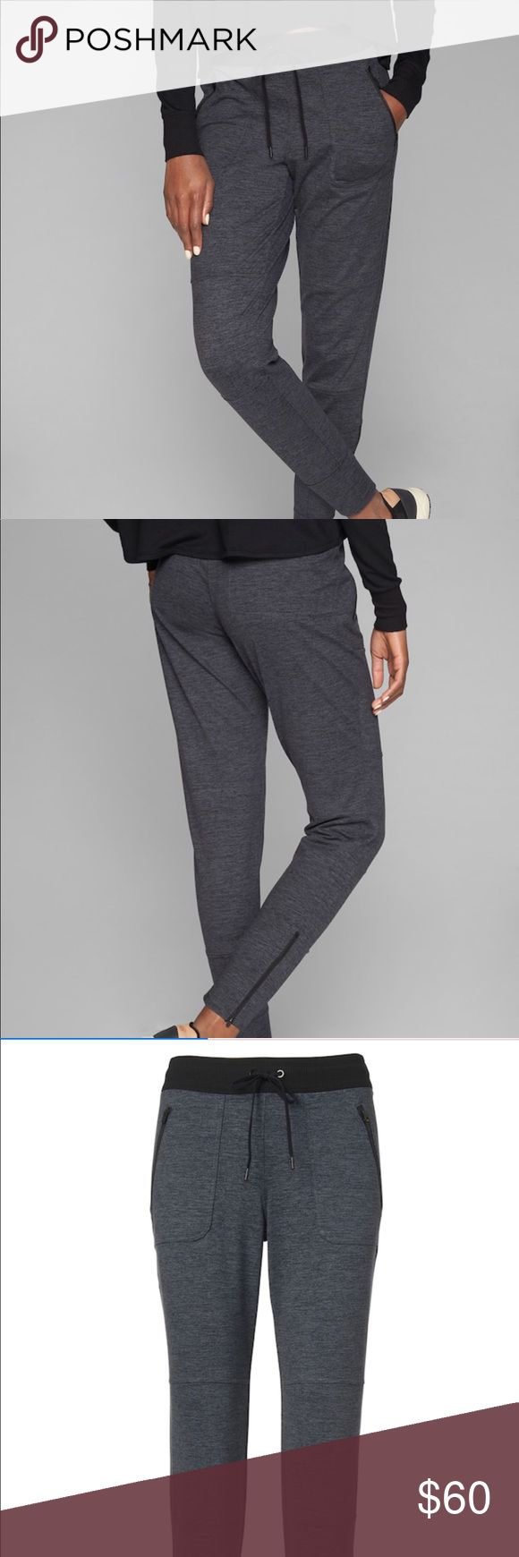NET Athelta Joggers Brand new just got on poshmark but too big. I needed XS. I think Athelta runs a little bigger than other brands. Real cute! They are the flux street jogger same color as pictures! Athleta Pants Track Pants & Joggers