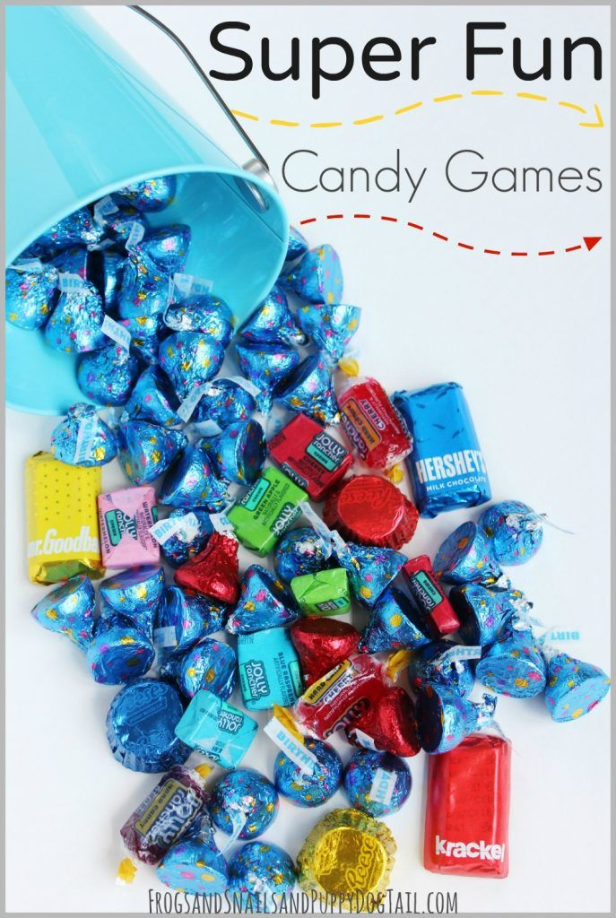 Super Fun Candy Games for Kids.  Kid party ideas.