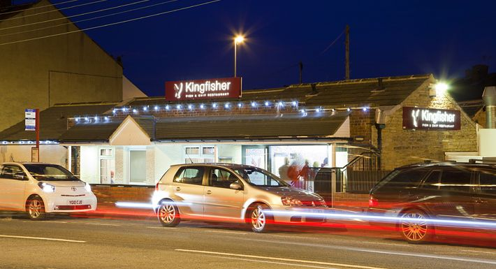 The Kingfisher Restaurant & Takeaway underwent a major new re-brand in 2009 which involved a whole new re-furbishment of the restaurant, new menus, exterior signage and website. Address (597Denby Dale Road Calder Grove Wakefield WF4 3DA) http://www.kingfisherrestaurant.co.uk/