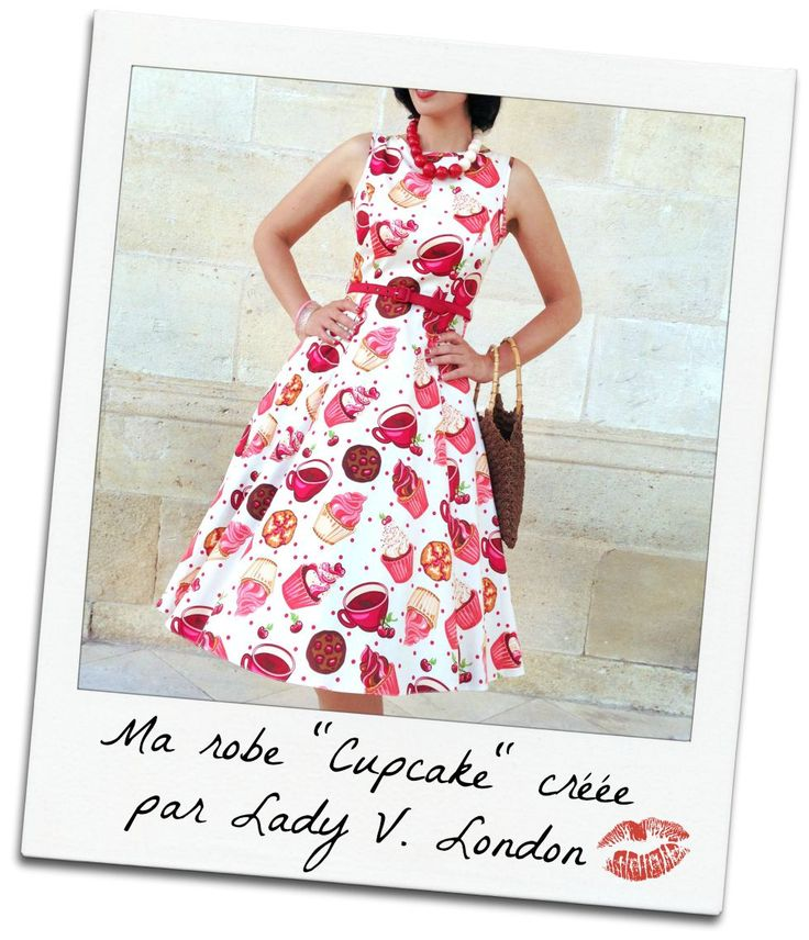 """My """"Cupcakes"""" dress made by Lady Vintage (also known as Lady V. London). Adorable sweet & candy print!"""