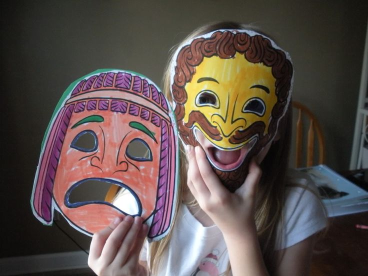 40 best images about greek theater masks on pinterest for Ancient greek mask template