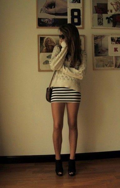 short tight skirts | my style | Pinterest | Skirts, Striped skirts ...